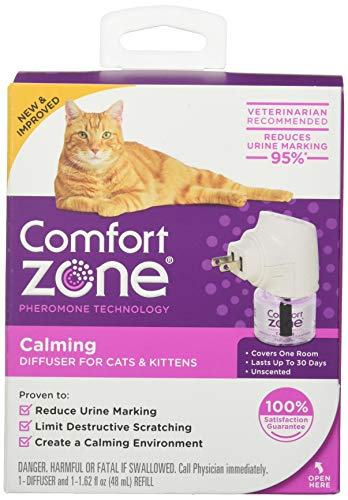 Comfort Zone 100526047 Calming Diffuser for Cats & Kittens