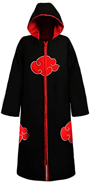 MUEKA Naruto Jacket Akatsuki Naruto Headband Anime Costume Ninja Hoodie Cosplay Cloak Costume