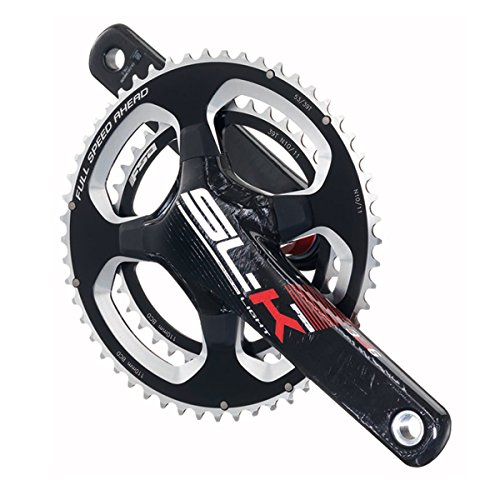 FSA SL-K Light ABS EVO386 Road Bicycle Crankset - Red (Black/Red Logo - 36/46t-172.5 w/oBB x 86 - (Slk Light)