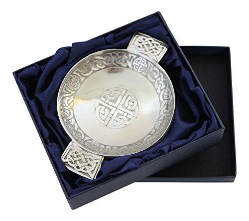 (Scottish Pewter Traditional Celtic Knot and Eternal Life Knot Design Toasting)
