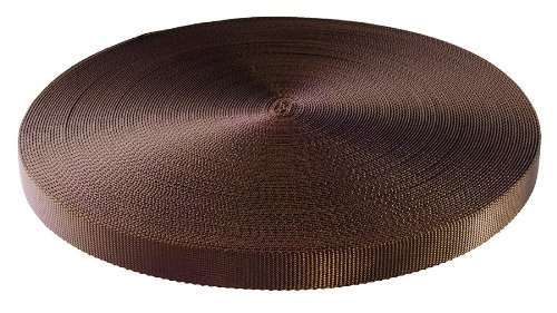 50 Yards - 5/8'' Brown Heavy Nylon Webbing by LK Sewing