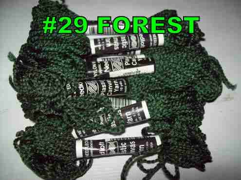 Needloft Plastic Canvas Yarn #29 Forest Green