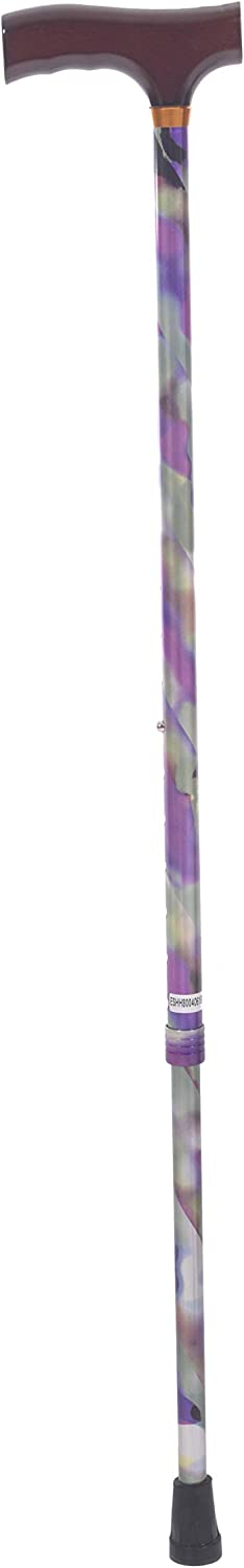 Essential Medical Supply Spring Garden Collection Wood Derby Handle Cane, Rainbow