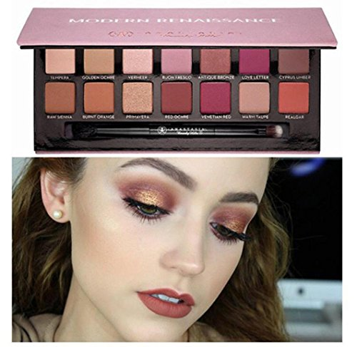 LOUSHI New Cosmetic Matte Eyeshadow Cream Eye Shadow Makeup Palette Shimmer Set 14 Color (Multicolor)