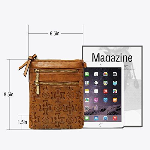Cellphone Bag Designer Women Crossbody for Purse i5 Brown z7qPx