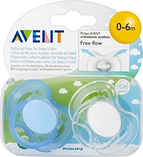 Avent Freeflow Silicone Soothers 0-6mth (2) - Pack of 6