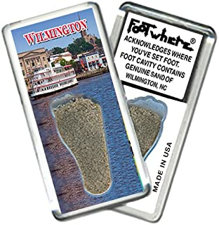 product image for Wilmington, NC FootWhere Souvenir Fridge Magnet. Made in USA (WLM204 - Riverboat)