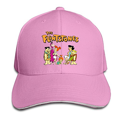 [Logon 8 The Flintstones Personalize Hats Pink One Size] (Fred And Wilma Costumes To Make)