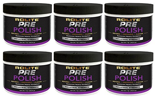 Rolite Pre-Polish (1lb) for Heavily Oxidized, Stained, Discolored and Corroded Metal, Clear Coated and Gel-Coated Surfaces 6 Pack by Rolite (Image #1)