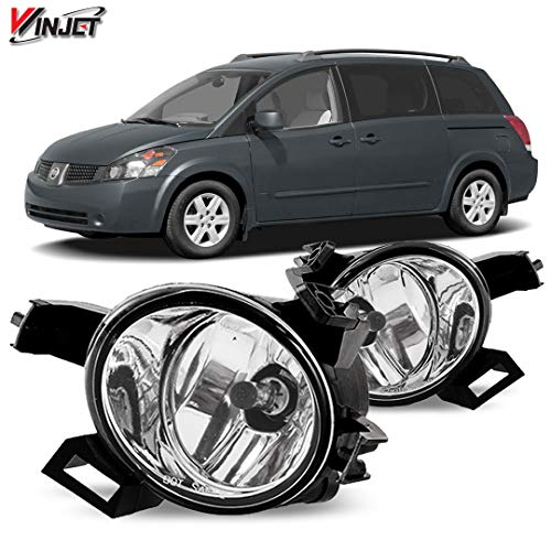 Winjet WJ30-0182-09 OEM Series for [2004-2006 Quest] [2005-2006 Nissan Altima] Clear Lens Driving Fog Lights + Switch + Wiring Kit NI2592118 NI2593118