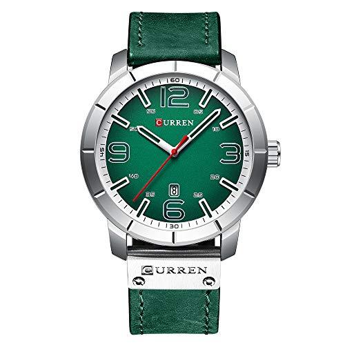 CURREN Men's Watch Quartz Leather Daily Waterproof Round Dial Wrist Watch