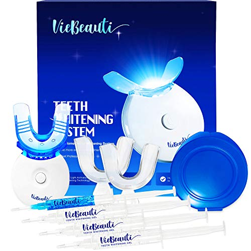 VieBeauti Premium Teeth Whitening Kit with LED Light, HISMILE, At-Home System Without Pain or Sensitivity, Effectively Removes Stains for Whiter Teeth V2