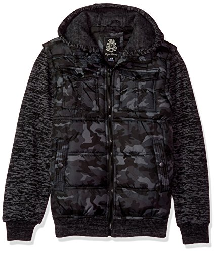 English Laundry Big Boys' Outerwear Jacket (More Styles Available), Quilted Bomber-E267-Camo, 14/16