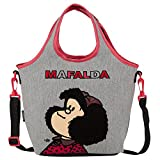 a99cba9fa2511e Chenson lonchera escolar juvenil femenino color negro con gris linea Mafalda