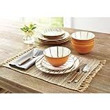 Better Homes and Gardens 12-Piece Sabin Striped Dinnerware Set