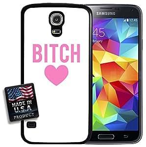 Bitch Pink Heart Design Galaxy S5 Hard Case
