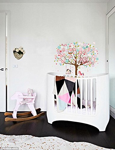 Kath & Cath Rainbow Unicorn, Pink Fairy, Gingerbread House, Singing Birds and Cherry Blossoms Tree Wall Stickers -Kids… 5