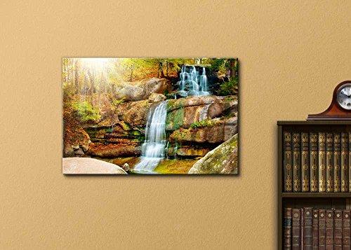 Beautiful Scenery Landscape Waterfall in Forest in Autumn Wall Decor