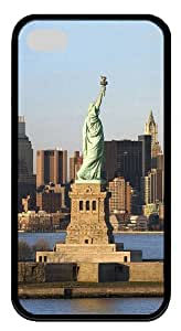 iphone 4 coolest case Landscapes Statue Liberty TPU Black for Apple iPhone 4/4S