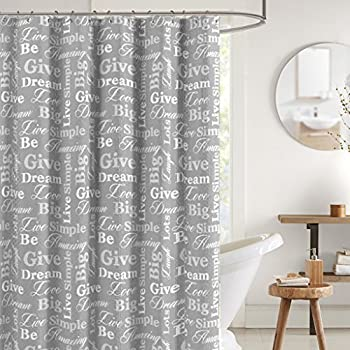 Top Amazon.com: Lisa Weedn Think Good Thoughts Fabric Shower Curtain  LB78