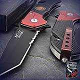 New Cool 7.75-Inch Mtech Usa Fire Fighter Tanto Rescue Spring-Assisted Folding Pro Tactical Elite Knife for Home Camping Hunting Rescue + free Ebook by ProTactical'US