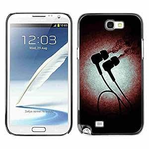 Shell-Star ( Music Blast Headphones ) Fundas Cover Cubre Hard Case Cover para Samsung Galaxy Note 2 II / N7100