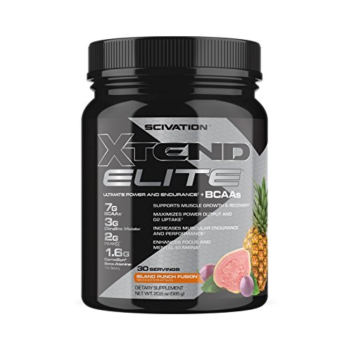 Scivation Xtend Elite BCAA Powder, Branched Chain Amino Acids, BCAAs, Island Punch Fusion, 30 (Island Fusion)