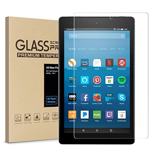 All New Fire 7 Screen Protector Tempered Glass Screen Protector Film For Amazon Fire 7 Tablet With Alexa  7Th 2017 Release   9H Hardness   Crystal Clear   Bubble Free