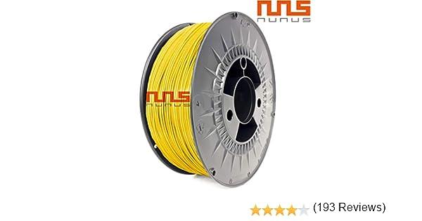 NuNus 3D Printer Impresora ABS Filamento 1,75mm 1KG (amarillo ...