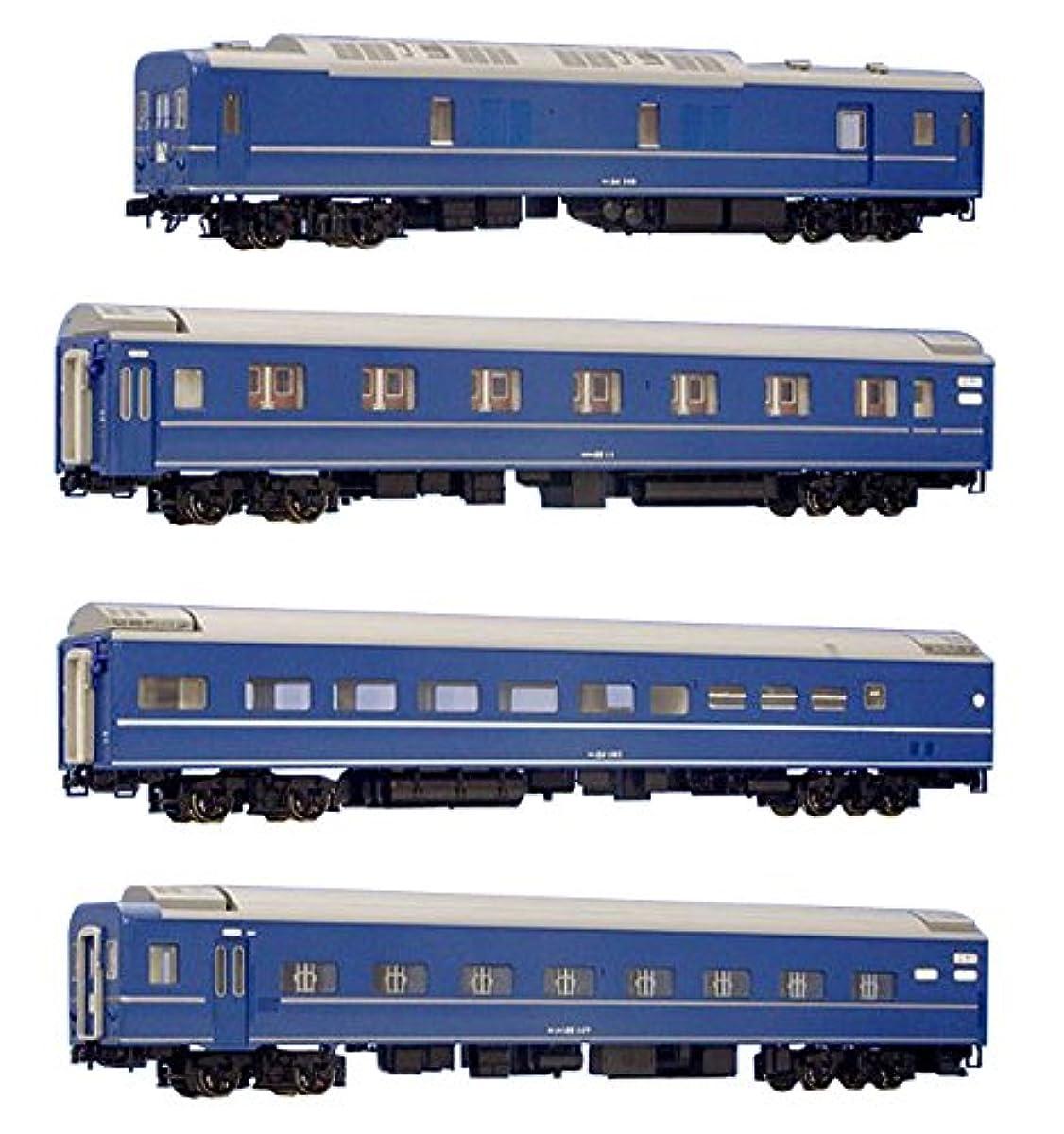 [해외] KATO HO게이지 24 계 25 형침대특급 객차 기본 4 양세트 3-510 철도 모형 객차