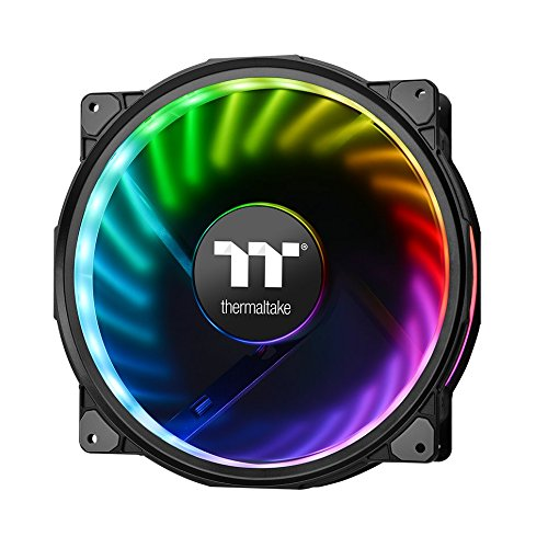 - Thermaltake Riing Plus 20 RGB TT Premium Edition WITHOUT Controller 200mm Software Enabled Circular 12 LEDs Sets (24 Addressable LEDs) RGB Single Pack Riing Case/Radiator Fan CL-F070-PL20SW-A