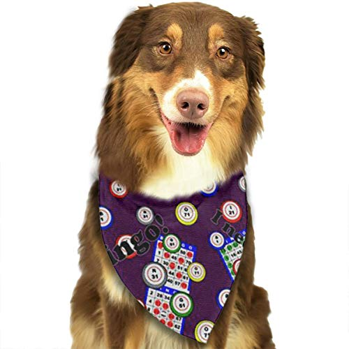 FRTSFLEE Dog Bandana Bingo I Need One More Numbe Scarves Accessories Decoration for Pet Cats and Puppies