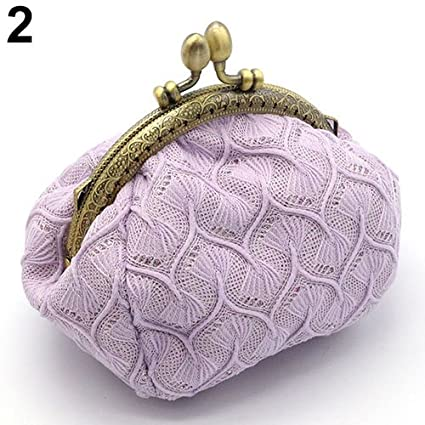 Amazon.com: Aland Women Vintage Woolen Yarn Knitted Coin ...