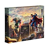 Thomas Kinkade DC Super Hero Fine Art Superman Man of Steel 8 x 10 Gallery Wrapped Canvas