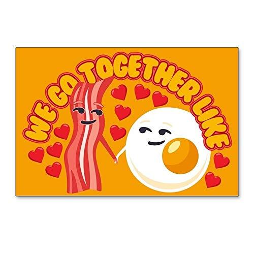 CafePress Emoji Go Together Bacon & Postcards (Package of 8), 6