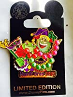 Authentic Disney Princess Tiana And Prince Naveen as Frogs Mardi Gras LE Pin 2015