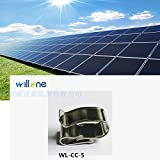 Willone 1000pcs/lot WL-CC-5 stainless steel solar cable clips ,cable clamp mounting installation