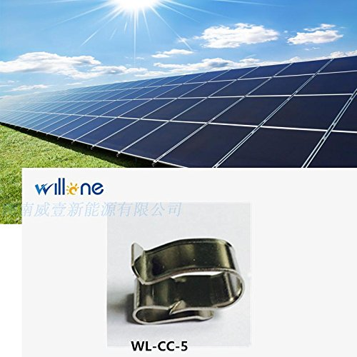 Willone 1000pcs/lot WL-CC-5 stainless steel solar cable clips ,cable clamp mounting installation by Willone