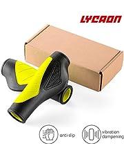 LYCAON Bike Grips Puños de manillar de bicicleta con escombros sólidos y extra gruesos, 5 opciones de color