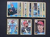 Minnesota Twins 1987 Topps Master Baseball Team Set with year-end Traded Cards (37 Cards) (World Series Champions) (Kirby Puckett) (Kent Hrbek) (Bert Blyleven) (Billy Bean Rookie) (Ron Washington) (Gary Gaetti) (Frank Viola) (Tom Brunansky) (Greg Gagne) (Randy Bush) (Roy Smalley) (Mickey Hatcher) (Dan Gladden) (Jeff Reardon)