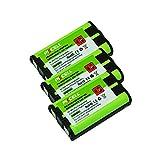 3 Pack P104 Cordless Phone Battery 3.6V for Panasonic HHR P104 800mAh nimh