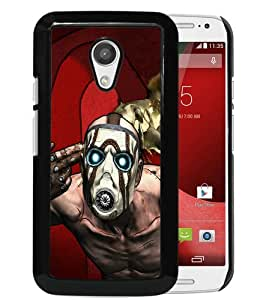 Featured Desin borderlands character mask light background Black Special Custom Made Motorola Moto G 2nd Generation Cover Case