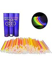 Glow Stick Bracelets- Tube of 100 8 Premium Glow Stick Bracelets Plus 10 Free (110 Bracelets Total)