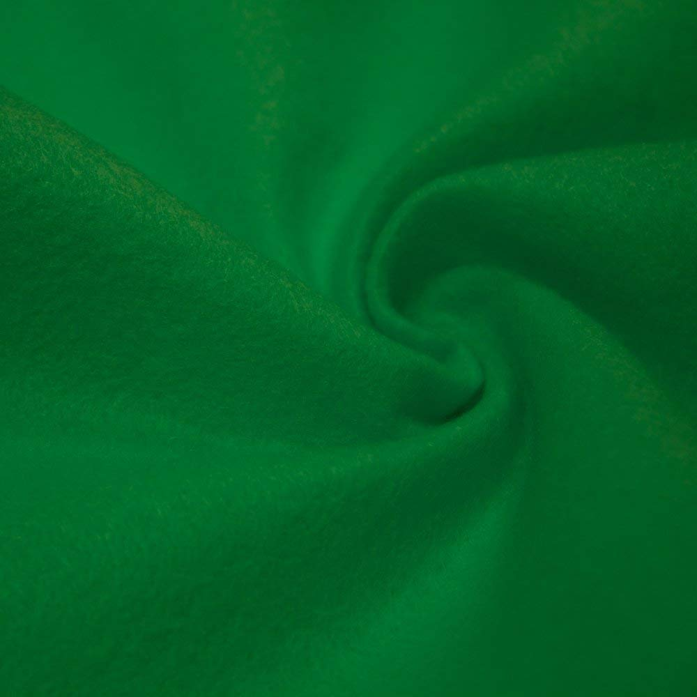AK TRADING CO. 72-Inch Wide 1/16'' Thick Acrylic Felt Fabric for Arts & Crafts, Cushion and Padding, Sewing Projects, Kids School Projects, DIY Projects & More. - Green, 5 Yards