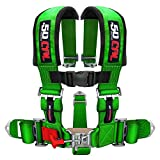 3'' 5 Point Racing Harness - GREEN - For Offroad Vehicles, UTV, SXS, Sand Rails, Dune Buggies, and More! [6001-A1]