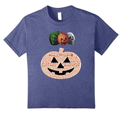 Kids Halloween III Masks and Pumpkin 10 Heather Blue -