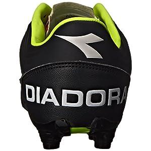 Diadora Men's Italica 3 K Pro Soccer Cleat, Black/White, 10 M US