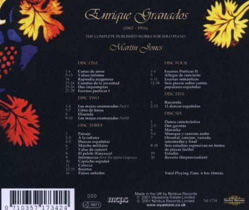 E. Granados, Martin Jones - Granados: Complete Piano Music - Amazon.com Music