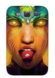 Fashionable Style Case Cover Skin Series For Galaxy S3- Stylized Womans Face