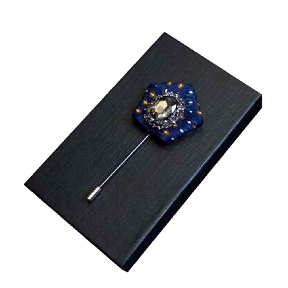 High-grade Men's Suit Pocket Towel Boutonniere Clothing Accessories Rhinestone Brooch, NO.2 Kylin Express